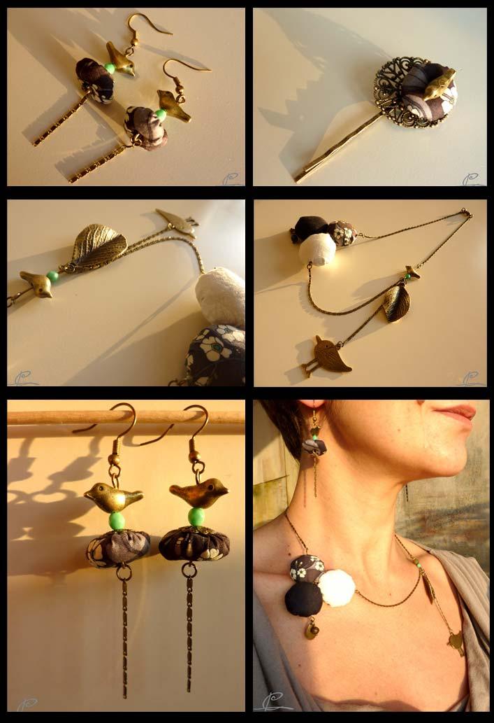 bijoux textiles céleste